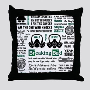 Breaking Bad Quotes Throw Pillow